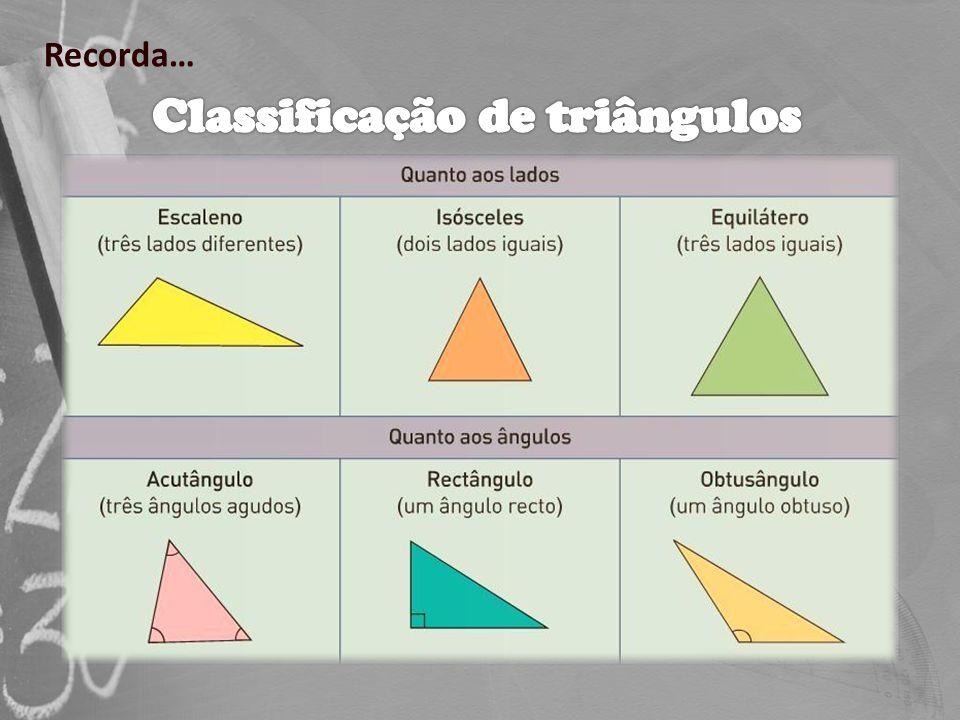 Num triângulo: A lados iguais opõem-se ângulos iguais e a ângulos iguais opõem-se lados iguais.