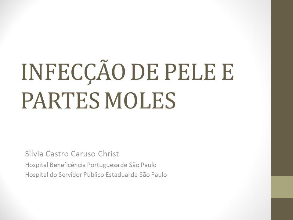 INFECÇÃO DE PELE E PARTES MOLES Silvia Castro Caruso Christ Hospital Beneficência Portuguesa de São Paulo Hospital do Servidor Público Estadual de São