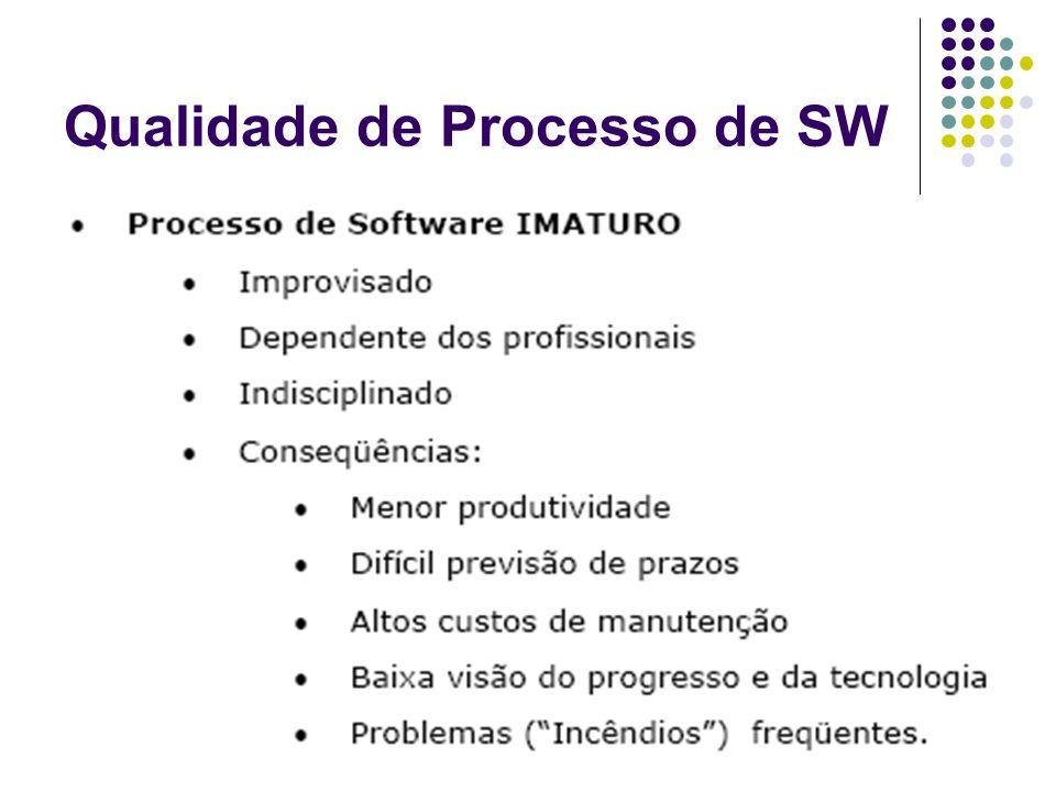 Os 10 mandamentos do processo imaturo 10 º : Não estabelecer métricas para o desenvolvimento de software Cada software é desenvolvido de uma forma particular, em função das suas características, e também cada desenvolvedor tem um estilo próprio de codificação.