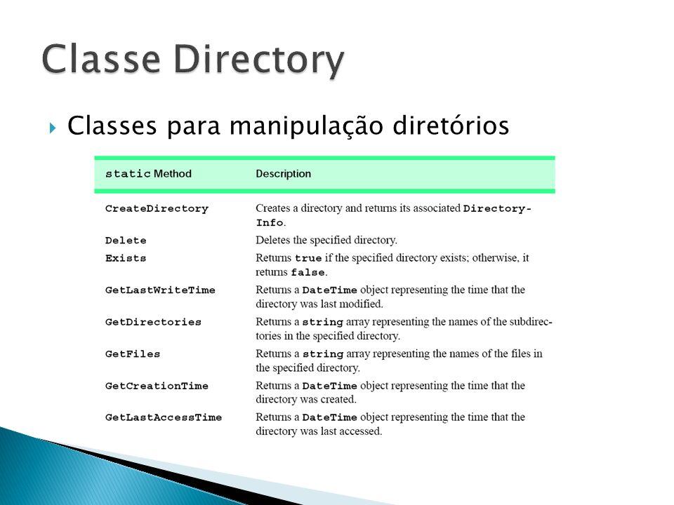 Classes para manipulação diretórios