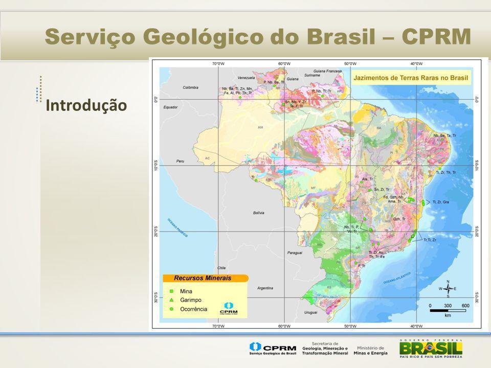Serviço Geológico do Brasil – CPRM Introdução