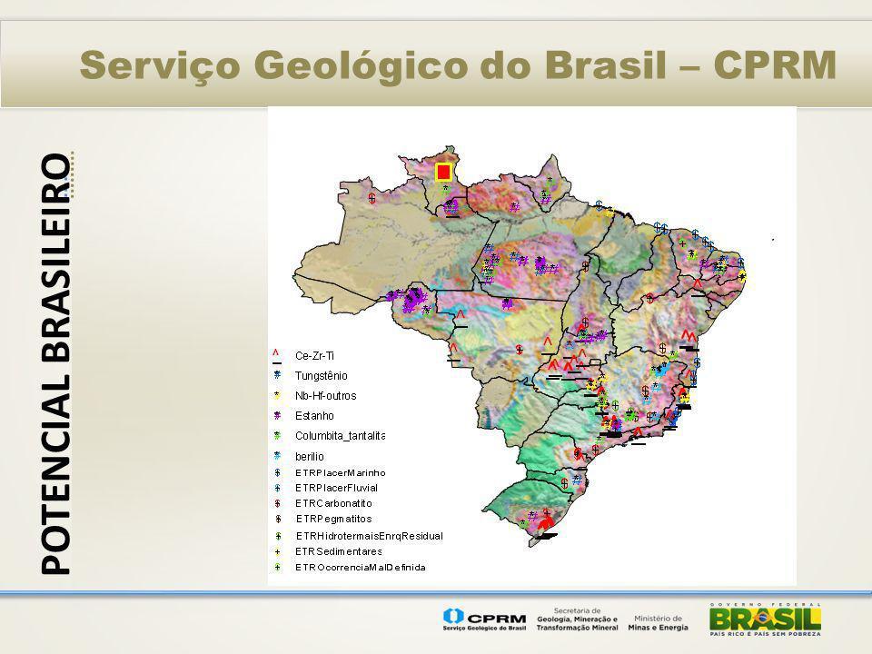 Serviço Geológico do Brasil – CPRM POTENCIAL BRASILEIRO