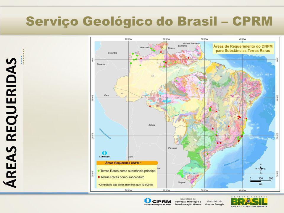 Serviço Geológico do Brasil – CPRM ÁREAS REQUERIDAS
