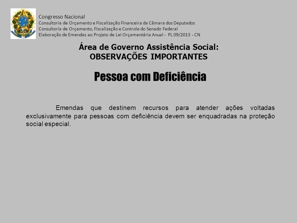 Congresso Nacional Consultoria de Orçamento e Fiscalização Financeira da Câmara dos Deputados Consultoria de Orçamento, Fiscalização e Controle do Senado Federal Elaboração de Emendas ao Projeto de Lei Orçamentária Anual - PL 09/2013 - CN ÁREA DE GOVERNO TRABALHO Ações mais emendadas Ação:20Z1 – Qualificação Social e Profissional de Trabalhadores Ação:2A95 – Elevação da Escolaridade e Qualificação Profissional – Projovem Ação:20YT – Fomento e Fortalecimento de Empreendimentos Econômicos Solidários e suas Redes de Cooperação Ação:4815 – Funcionamento de Unidades Descentralizadas