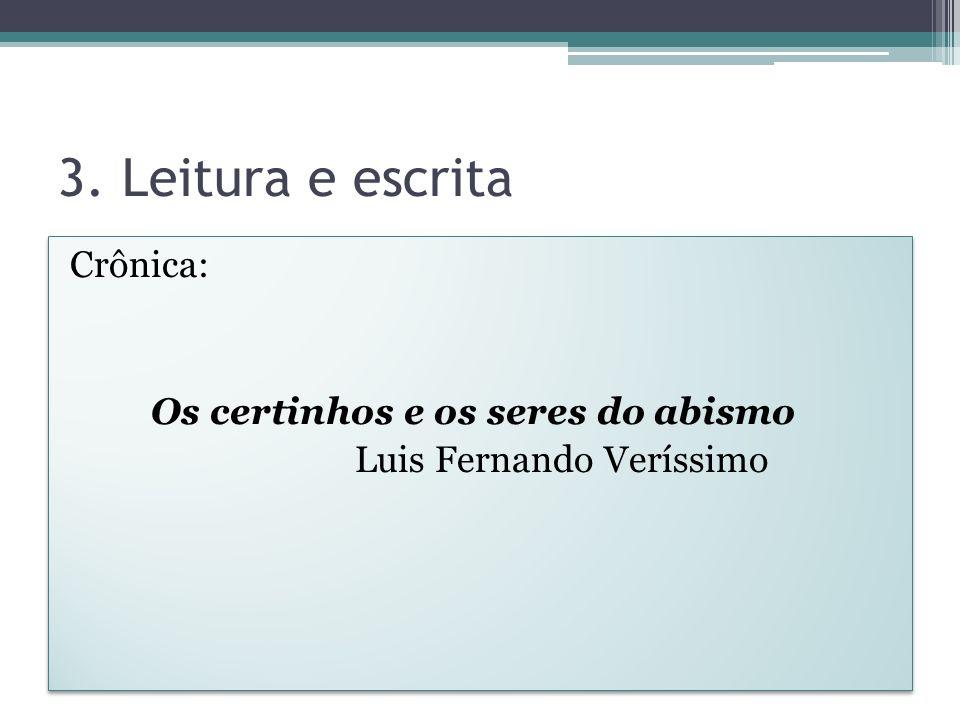 5.Interpretação em Português 2. Você se identifica com algum de aluno que está descrito no texto.
