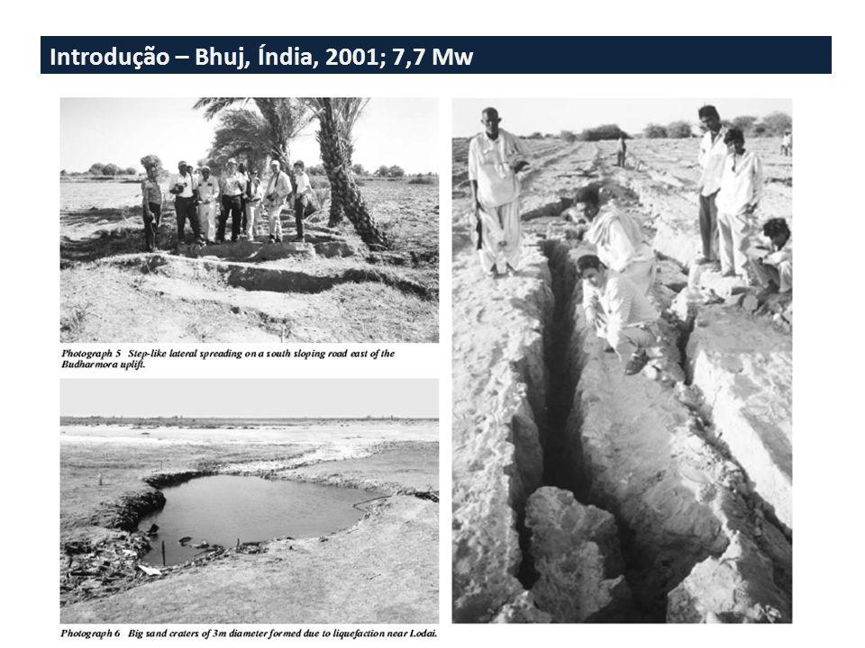 Introdução – Bhuj, Índia, 2001; 7,7 Mw