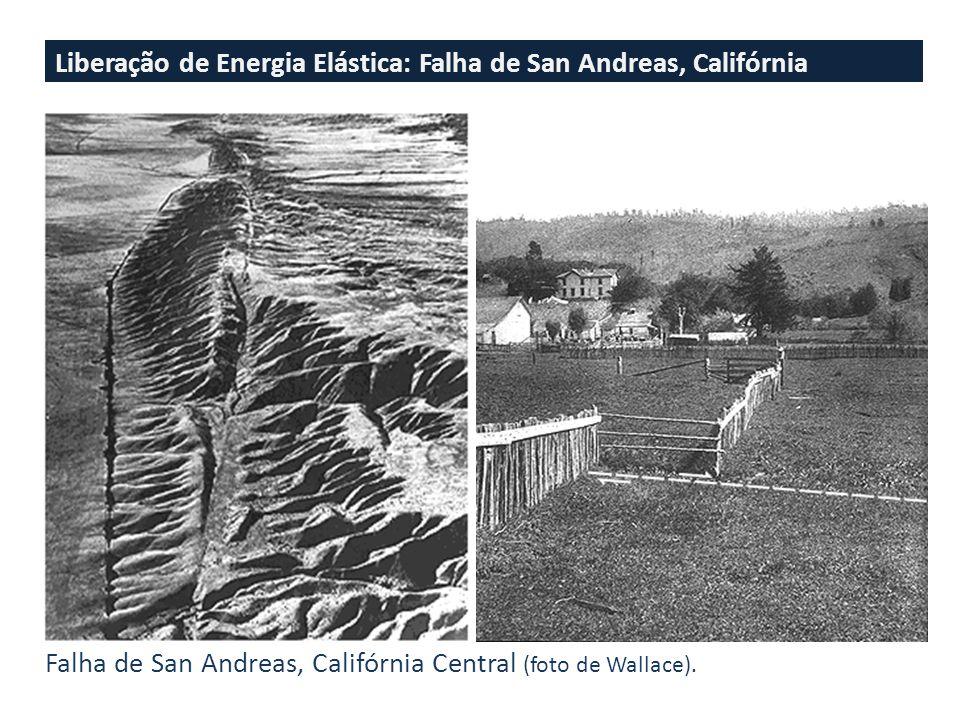 Liberação de Energia Elástica: Falha de San Andreas, Califórnia Falha de San Andreas, Califórnia Central (foto de Wallace).