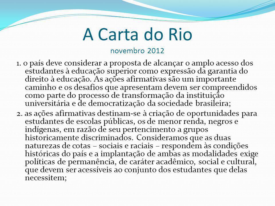 A Carta do Rio novembro 2012 1.