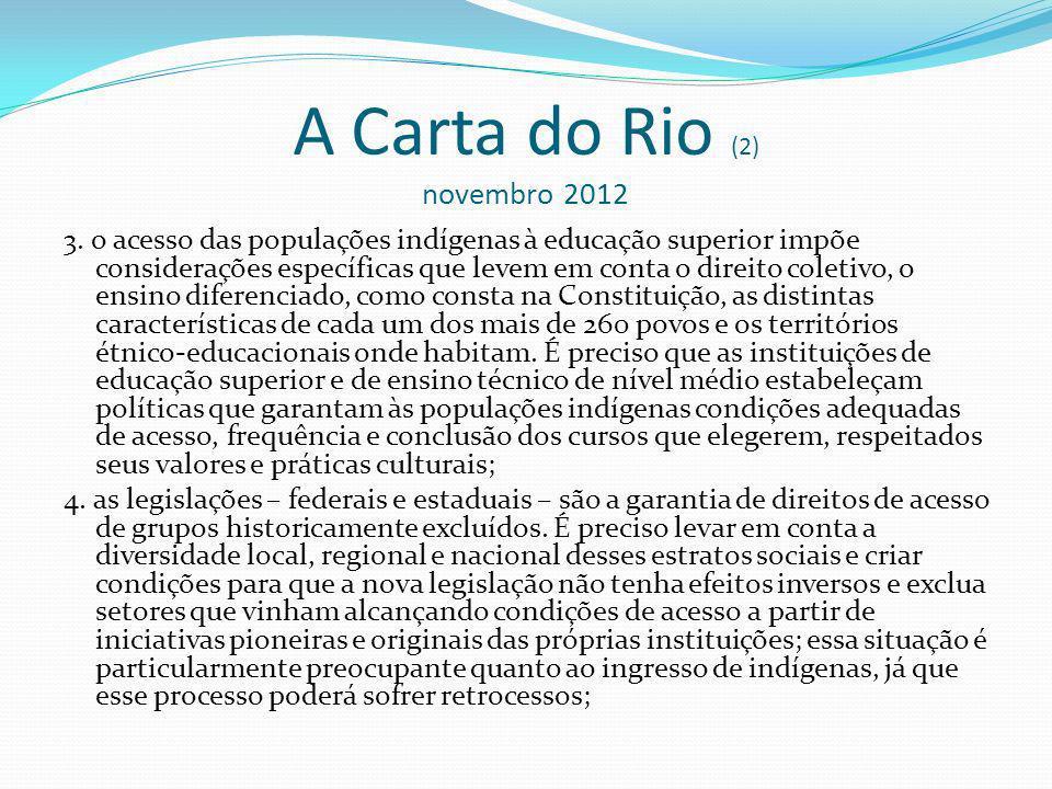 A Carta do Rio (2) novembro 2012 3.