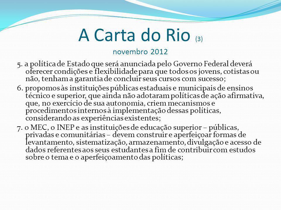 A Carta do Rio (3) novembro 2012 5.