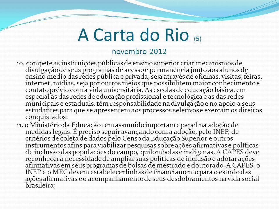 A Carta do Rio (5) novembro 2012 10.