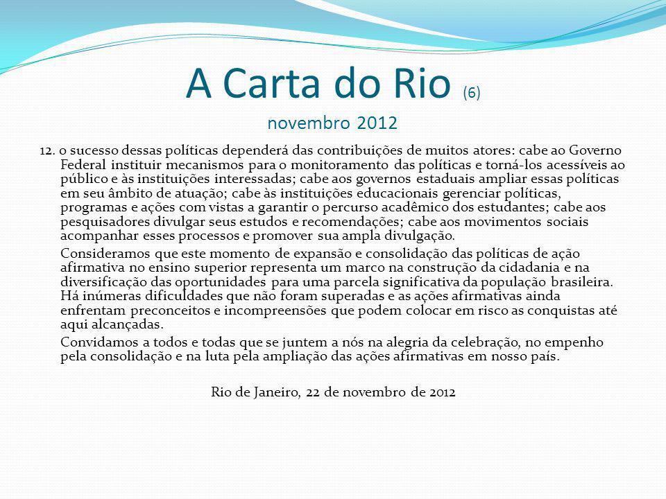 A Carta do Rio (6) novembro 2012 12.