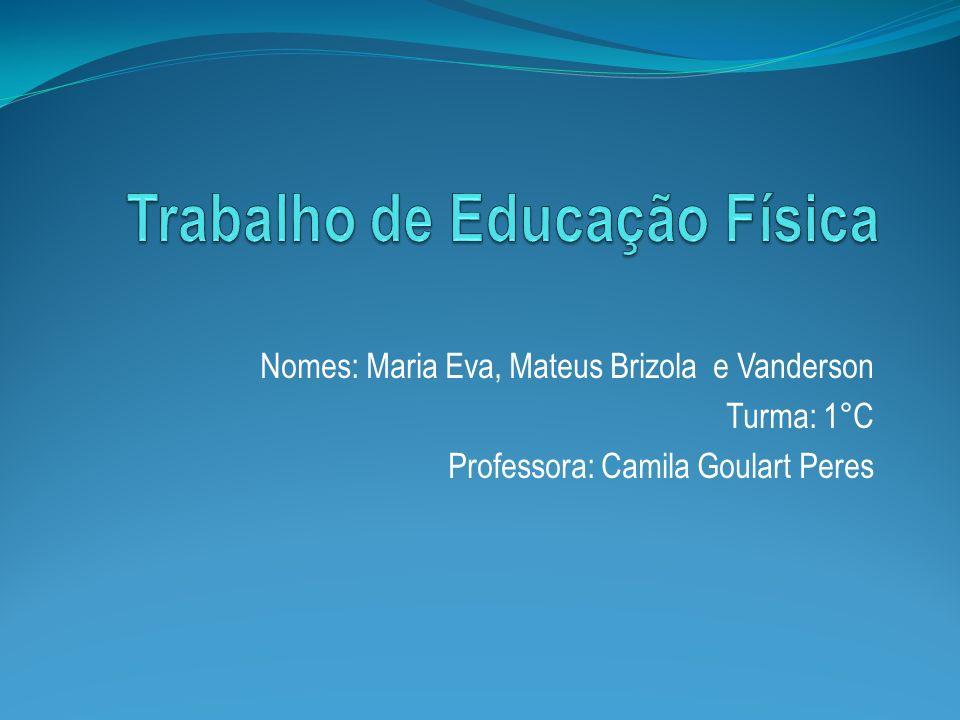 Nomes: Maria Eva, Mateus Brizola e Vanderson Turma: 1°C Professora: Camila Goulart Peres