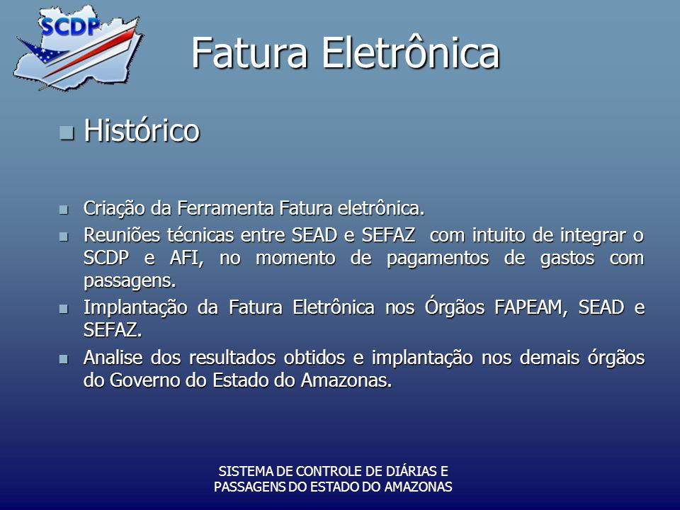 Fatura Eletrônica Histórico Histórico Criação da Ferramenta Fatura eletrônica. Criação da Ferramenta Fatura eletrônica. Reuniões técnicas entre SEAD e