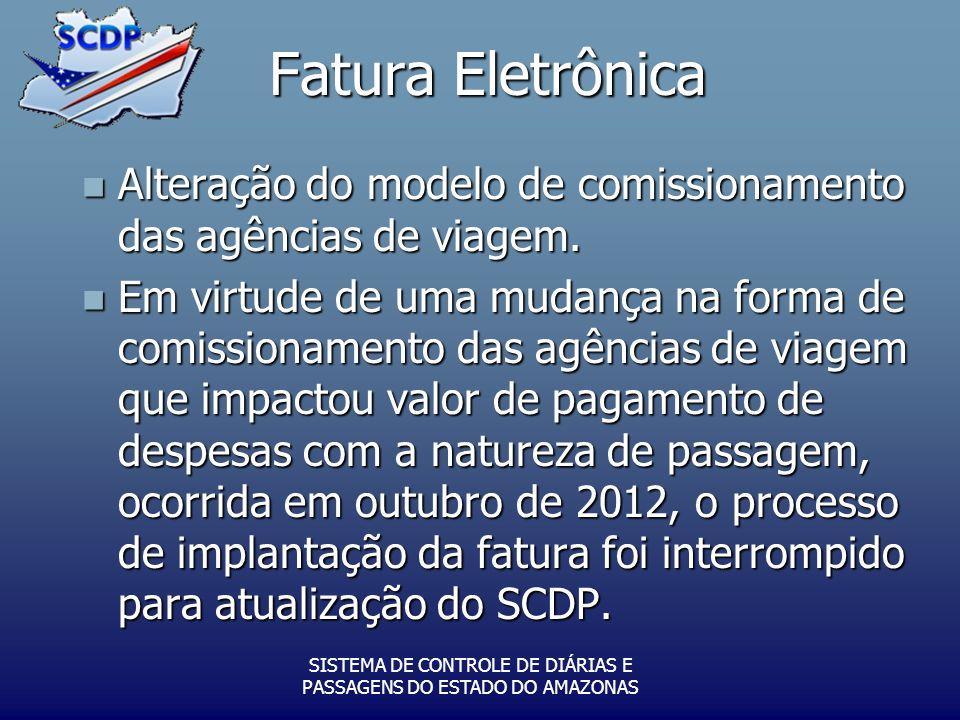 Fatura Eletrônica Alteração do modelo de comissionamento das agências de viagem.