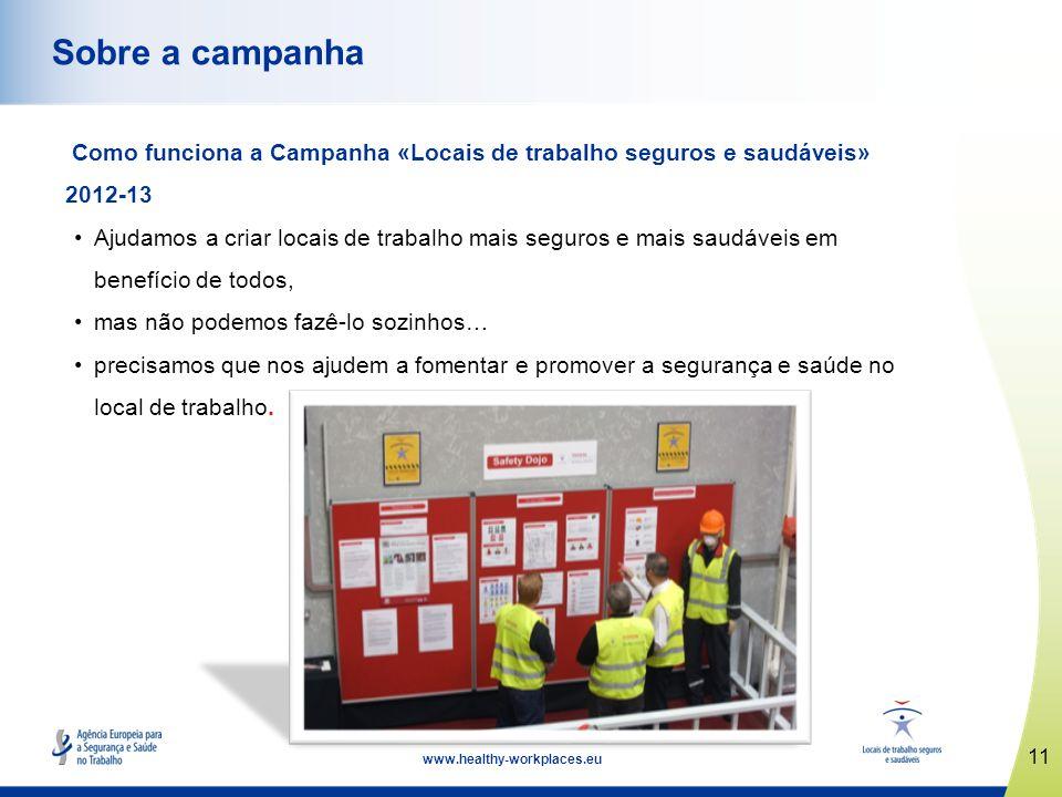 12 www.healthy-workplaces.eu Campanha baseada em redes Principais pontos fortes: pontos focais nacionais e redes tripartidas.