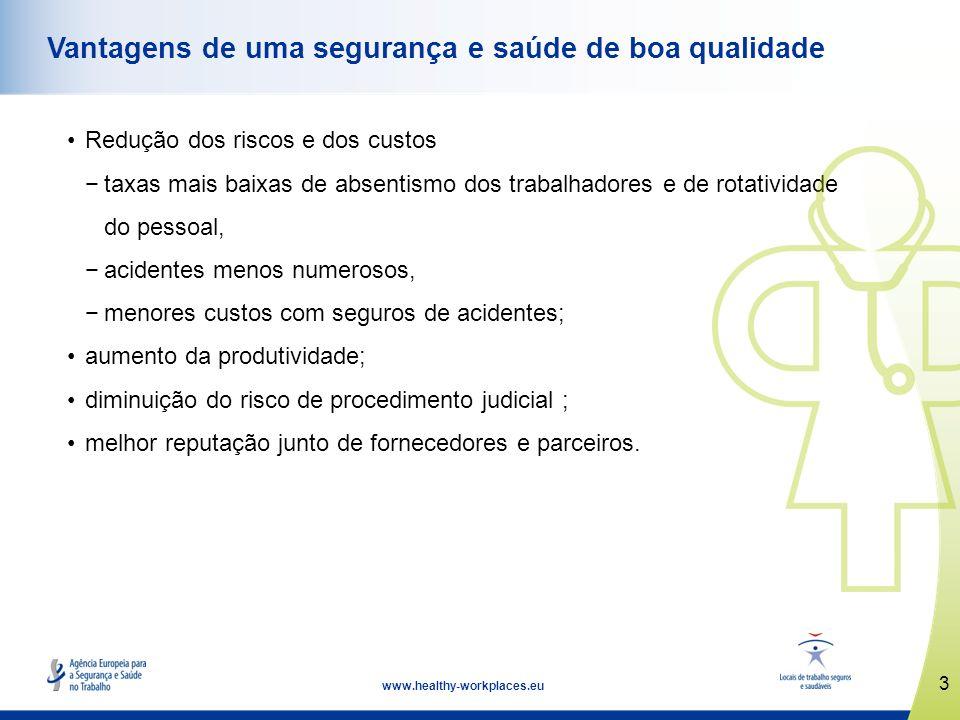 4 www.healthy-workplaces.eu Mais vale prevenir do que remediar A prevenção é a pedra angular da abordagem europeia da gestão dos riscos.