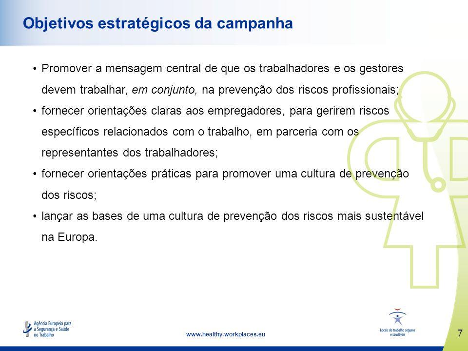 8 www.healthy-workplaces.eu A gestão na liderança A gestão tem o dever legal e moral de assumir a liderança em matéria de segurança e saúde no local de trabalho.