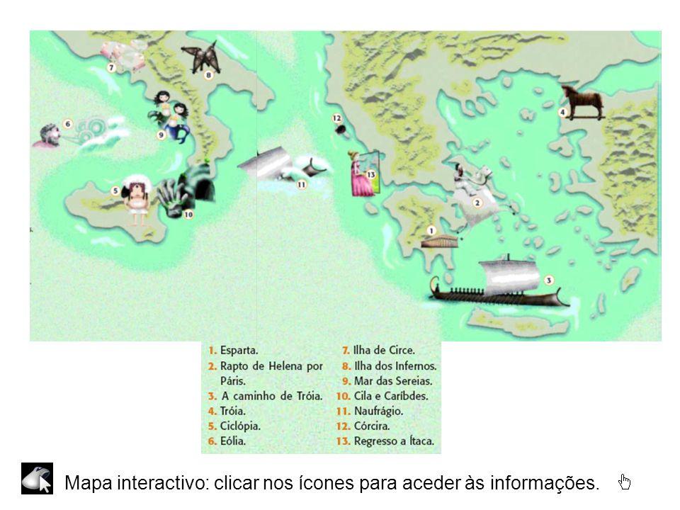 Mapa interactivo: clicar nos ícones para aceder às informações.