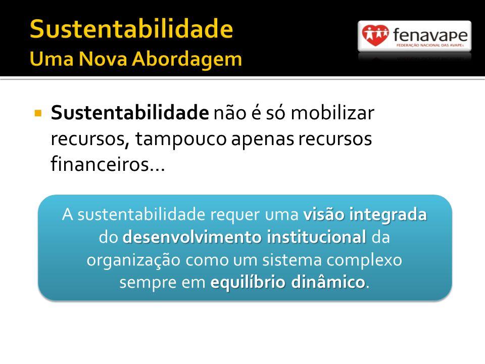 Sustentabilidade não é só mobilizar recursos, tampouco apenas recursos financeiros...