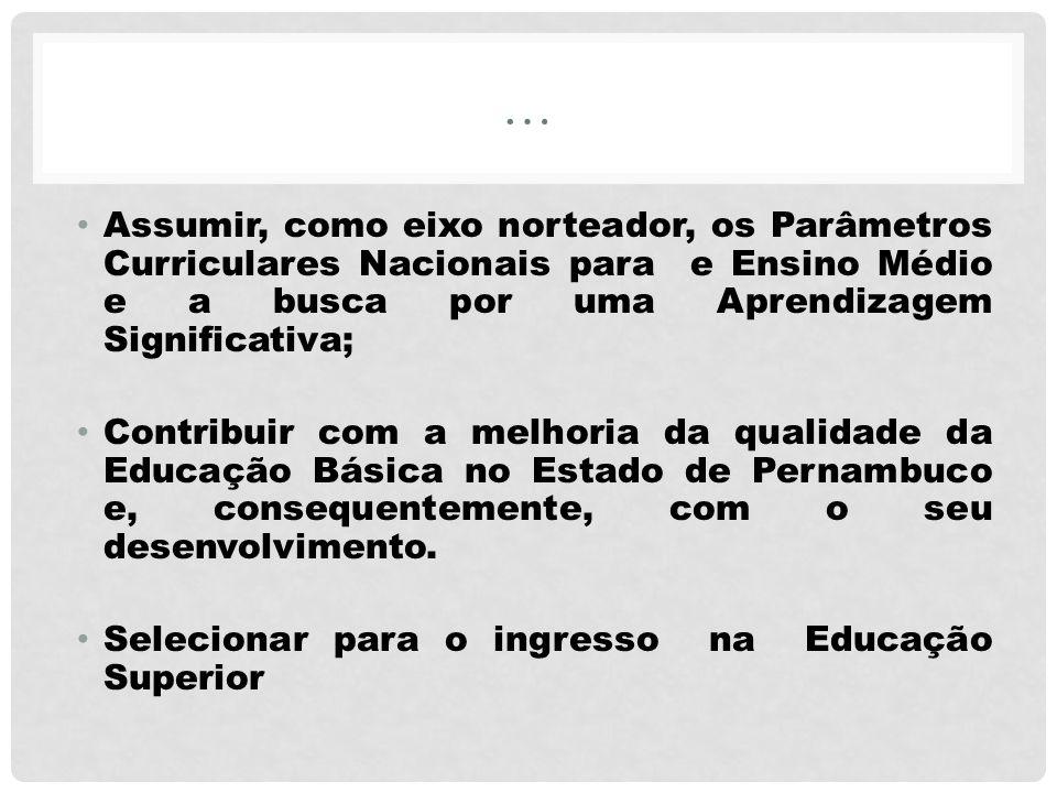 … Assumir, como eixo norteador, os Parâmetros Curriculares Nacionais para e Ensino Médio e a busca por uma Aprendizagem Significativa; Contribuir com