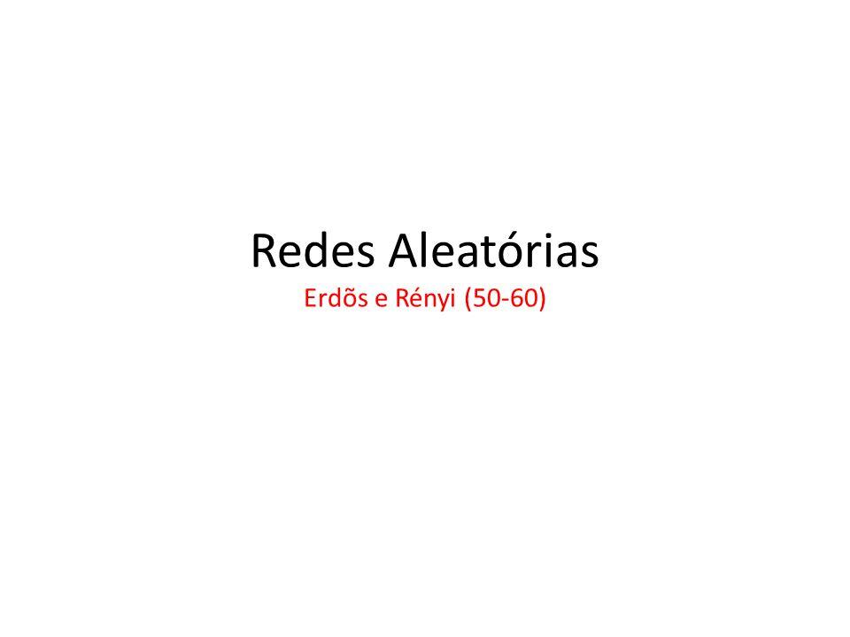 Redes Aleatórias Erdõs e Rényi (50-60)