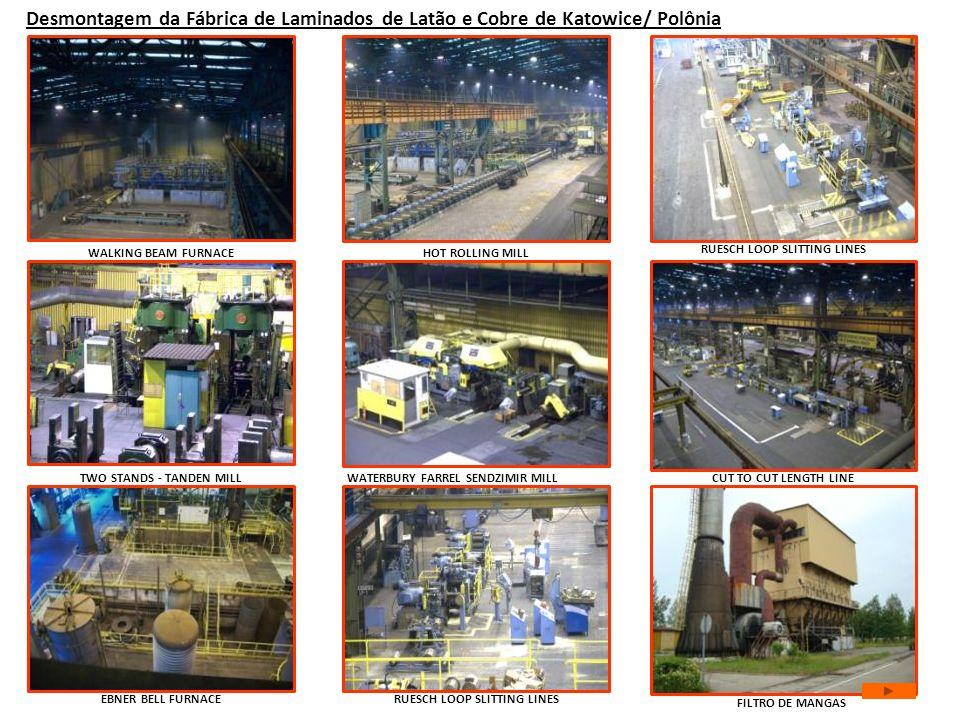 Desmontagem da Fábrica de Laminados de Latão e Cobre de Katowice/ Polônia WATERBURY FARREL SENDZIMIR MILL WALKING BEAM FURNACEHOT ROLLING MILL TWO STA