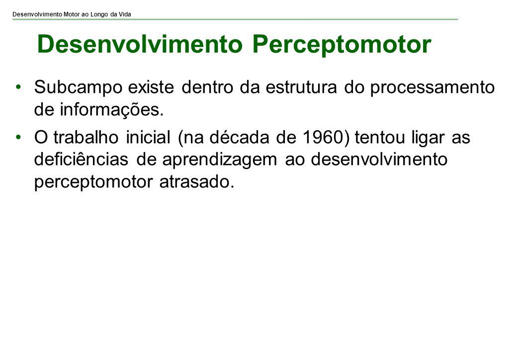 Desenvolvimento Motor ao Longo da Vida Desenvolvimento Perceptomotor Subcampo existe dentro da estrutura do processamento de informações. O trabalho i