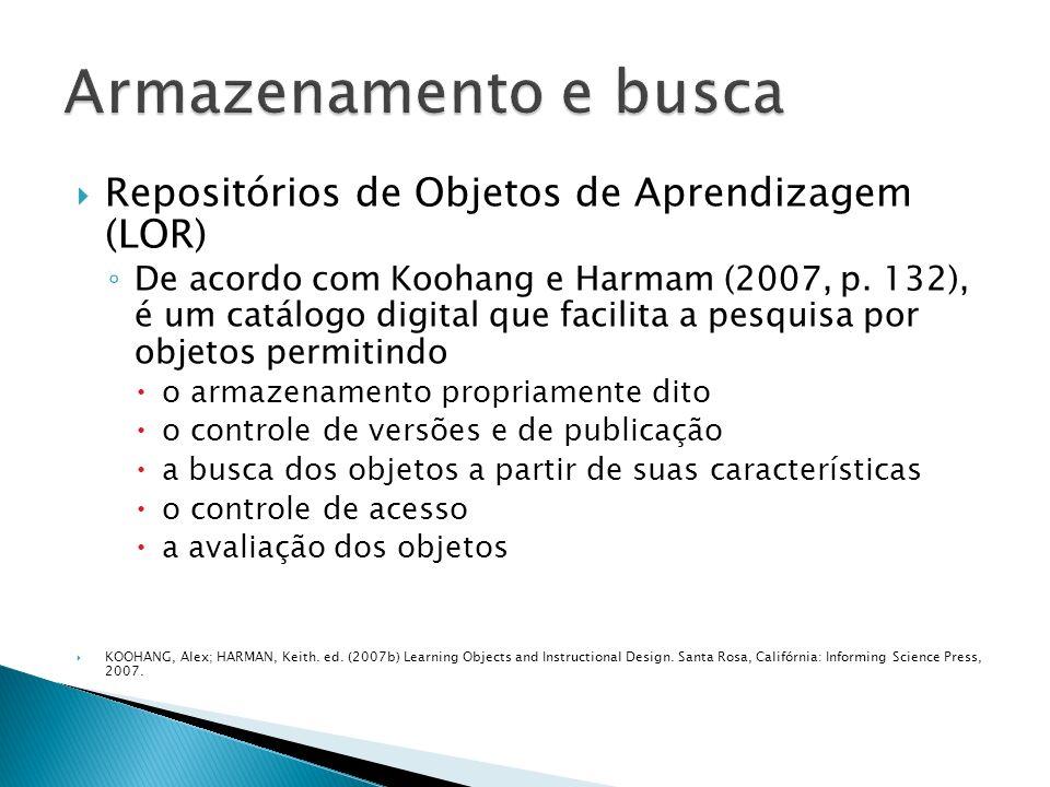 MERLOT - http://www.merlot.orghttp://www.merlot.org Le@rning Federation - http://www.thelearningfederation.edu.au/default.asp Le@rning http://www.thelearningfederation.edu.au/default.asp eduSource - http://www.edusource.ca/http://www.edusource.ca/ National Learning Network - http://www.nln.ac.uk/http://www.nln.ac.uk/ OKI (Open Knowledge Initiative) - http://www.okiproject.org/http://www.okiproject.org/ SMETE - http://www.smete.org/http://www.smete.org/ BIOE - Banco Internacional de Objetos Educacionais - http://objetoseducacionais2.mec.gov.br/ http://objetoseducacionais2.mec.gov.br/ CESTA - Coletânea de Entidades de Suporte ao uso de Tecnologia na Aprendizagem - http://www.cinted.ufrgs.br/CESTA/http://www.cinted.ufrgs.br/CESTA/ Domínio Público – Biblioteca Digital desenvolvida em software livre - http://www.dominiopublico.gov.br/pesquisa/PesquisaObraForm.j sp http://www.dominiopublico.gov.br/pesquisa/PesquisaObraForm.j sp Portal do Professor - http://portaldoprofessor.mec.gov.br/index.html http://portaldoprofessor.mec.gov.br/index.html