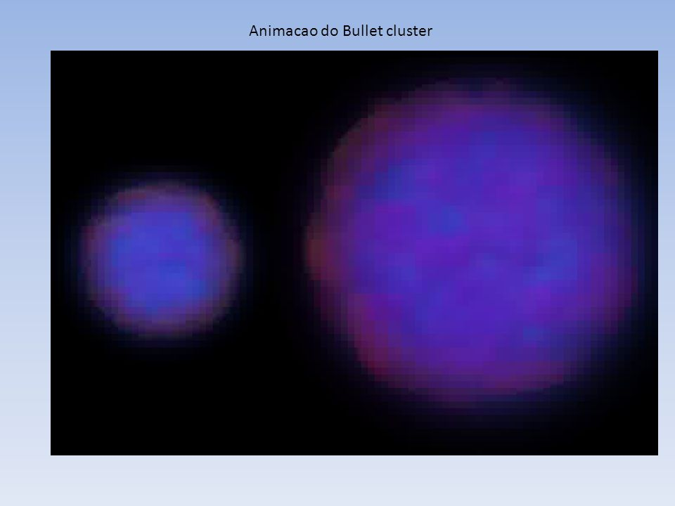 Animacao do Bullet cluster