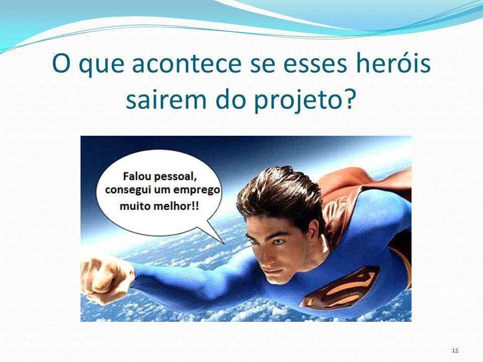 O que acontece se esses heróis sairem do projeto? 12