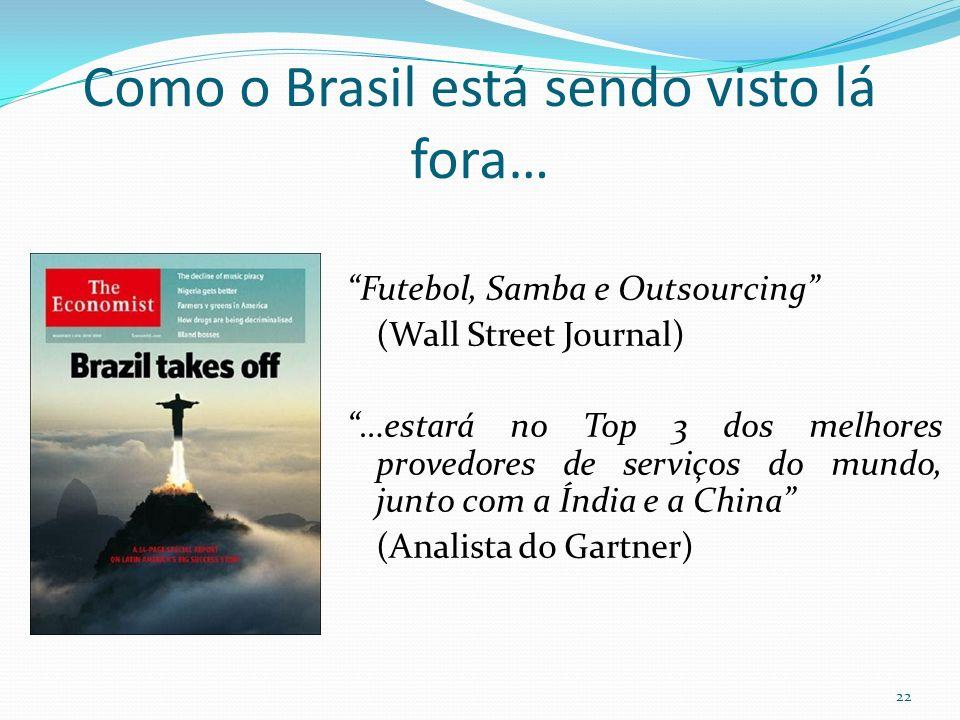 Como o Brasil está sendo visto lá fora… Futebol, Samba e Outsourcing (Wall Street Journal) …estará no Top 3 dos melhores provedores de serviços do mun