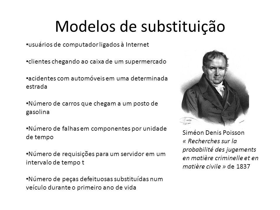 Modelos de substituição Siméon Denis Poisson « Recherches sur la probabilité des jugements en matière criminelle et en matière civile » de 1837 usuári