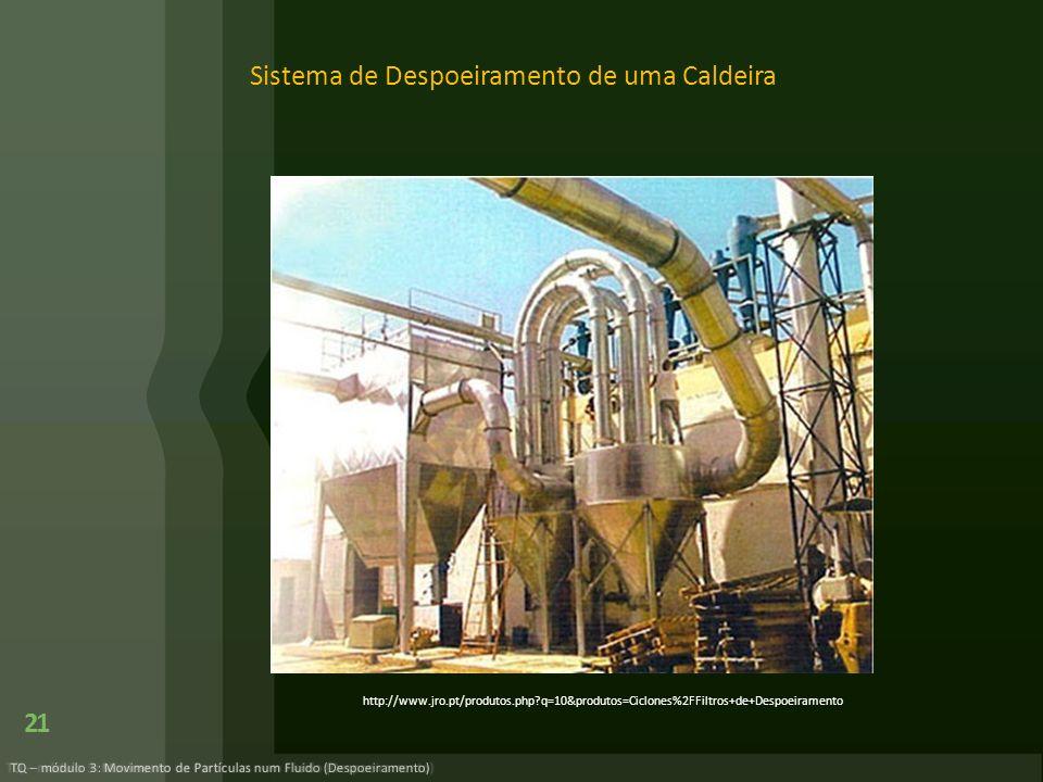 Sistema de Despoeiramento de uma Caldeira 21 TQ – módulo 3: Movimento de Partículas num Fluido (Despoeiramento) http://www.jro.pt/produtos.php?q=10&pr