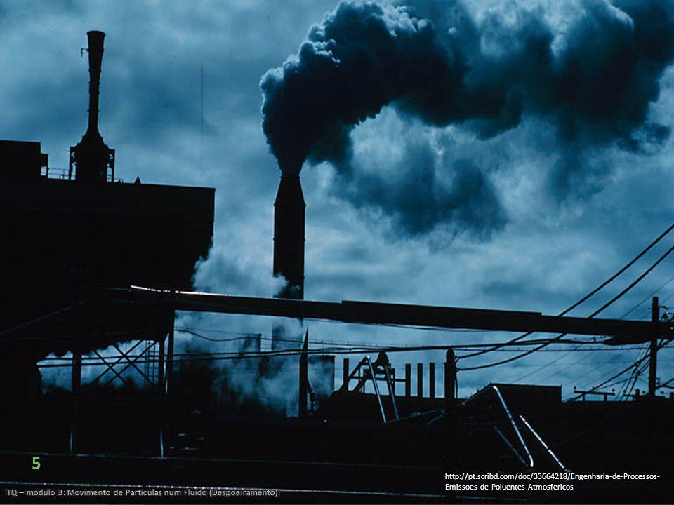 5 TQ – módulo 3: Movimento de Partículas num Fluido (Despoeiramento) http://pt.scribd.com/doc/33664218/Engenharia-de-Processos- Emissoes-de-Poluentes-