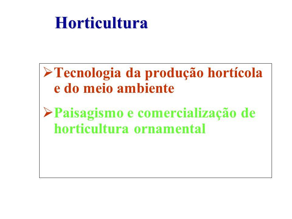 Tecnologia da produção hortícola e do meio ambiente Paisagismo e comercialização de horticultura ornamental Horticultura