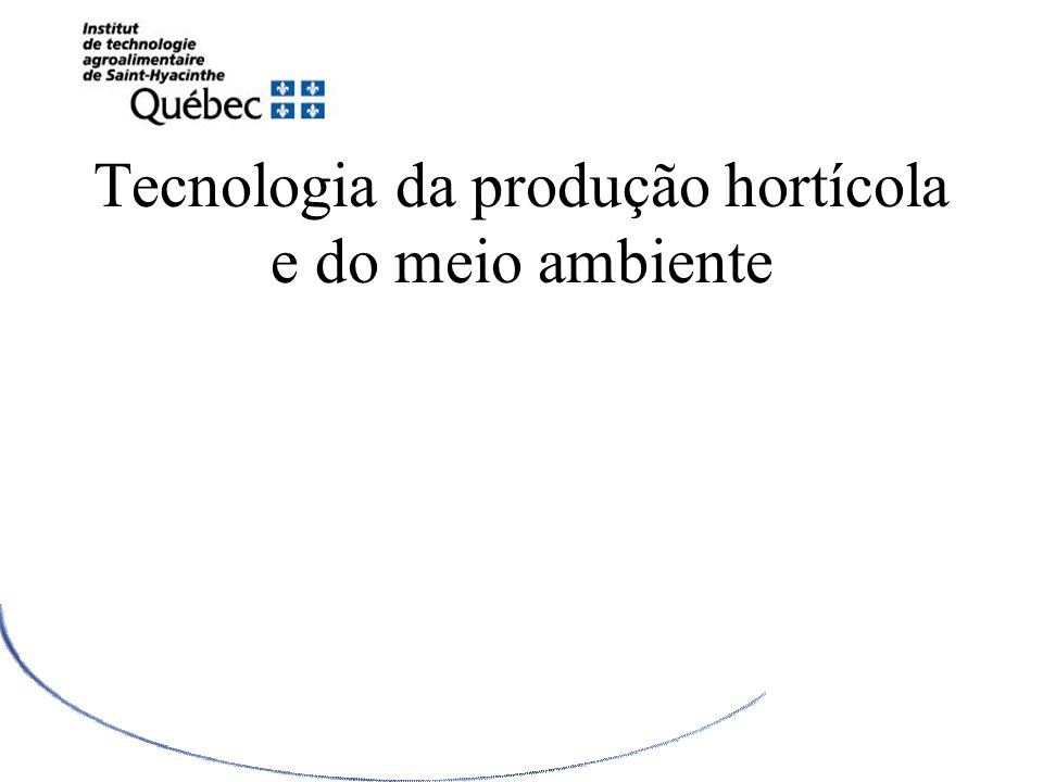Tecnologia da produção hortícola e do meio ambiente LHORTICULTURE