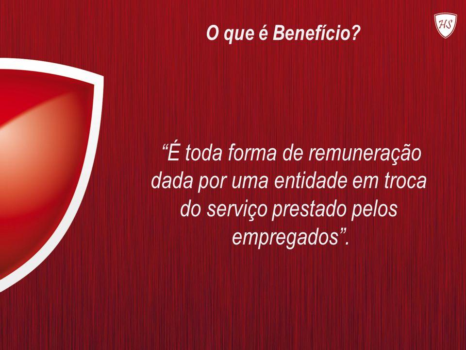O que é Benefício? É toda forma de remuneração dada por uma entidade em troca do serviço prestado pelos empregados.