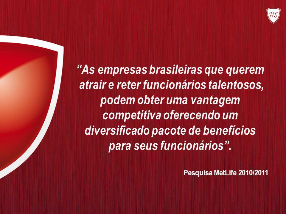 As empresas brasileiras que querem atrair e reter funcionários talentosos, podem obter uma vantagem competitiva oferecendo um diversificado pacote de