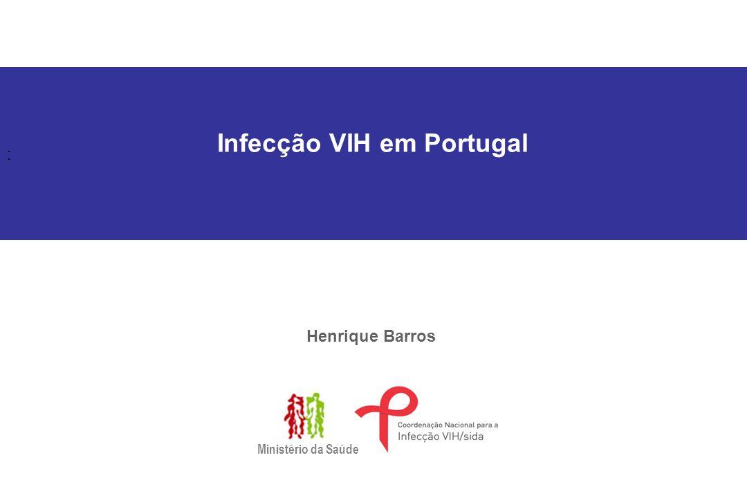 : Infecção VIH em Portugal Henrique Barros Ministério da Saúde