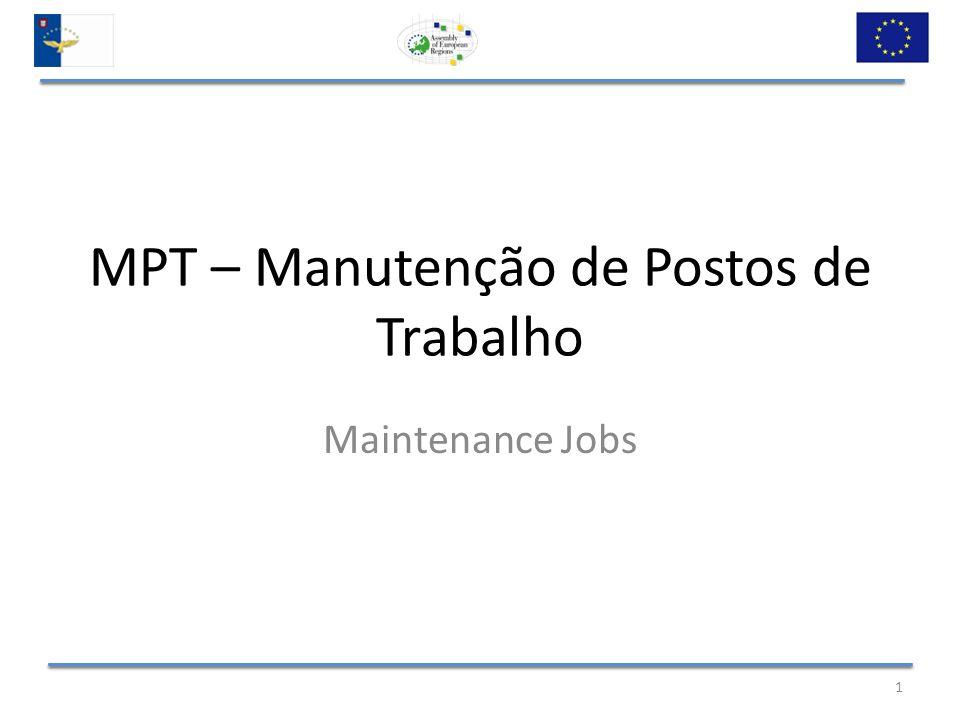 MPT – Objectivos (Goals) Manutenção do nível de emprego das empresas com sede nos Açores; (Maintaining the level of employment of companies based in Azores) Combater o risco do aumento do desemprego.