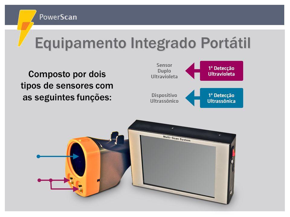 PowerScan O Sensor Ultravioleta identifica: O Sensor Ultravioleta identifica: Arcos nas amarrações Fugas de corrente causadas pela deteriorização do i