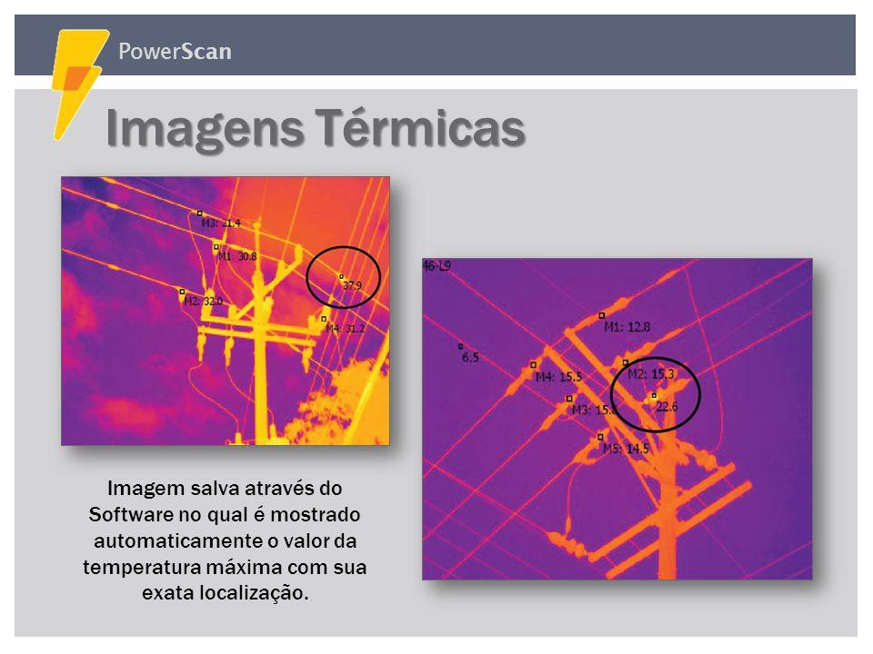 PowerScan Imagens do Software Imagens do Software Gráficos Controles Medição e ControleControle da CâmeraControle da CCTVControle do Termovisor FREQ.C
