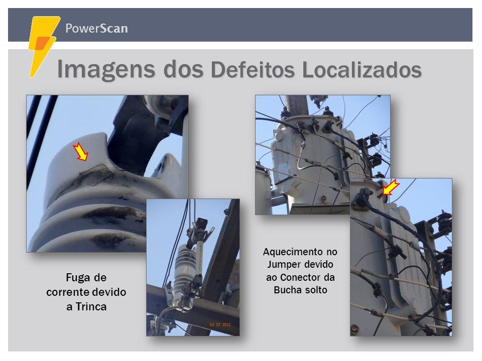 PowerScan Imagens dos Defeitos Localizados Imagens dos Defeitos Localizados Fuga de corrente devido a Objeto Estranho Aquecimento no conector