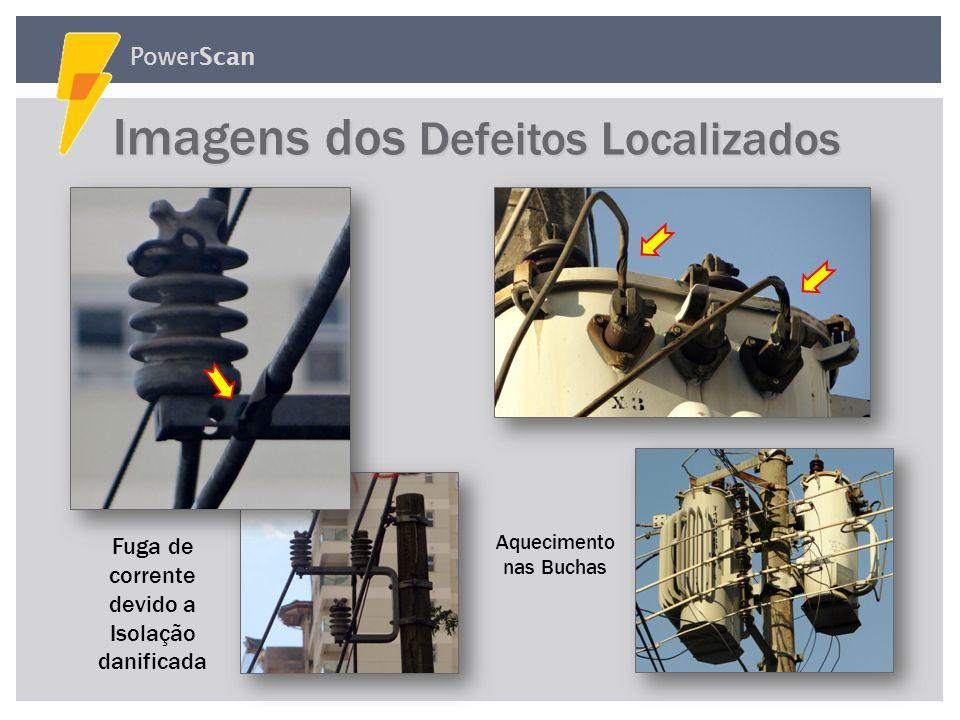 PowerScan Fuga de corrente devido a Fuligem Imagens dos Defeitos Localizados Imagens dos Defeitos Localizados