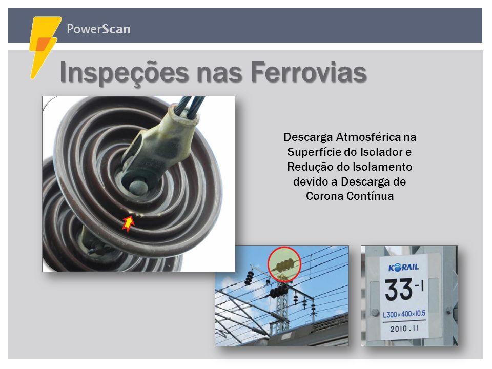 PowerScan Porca Solta encontrada na Estrutura da Linha de Alimentação Defeito da Chave Fusível do Banco de Transformadores Inspeções nas Subestações I