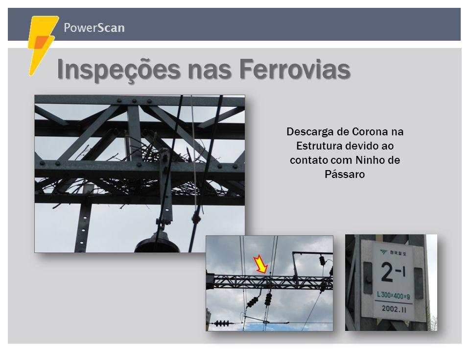PowerScan Inspeções nas Ferrovias Inspeções nas Ferrovias Descarga Atmosférica na Superfície do Isolador e Redução do Isolamento devido a Descarga de