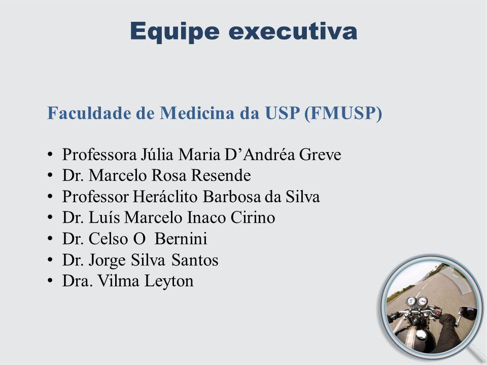 Equipe executiva Faculdade de Medicina da USP (FMUSP) Professora Júlia Maria DAndréa Greve Dr.