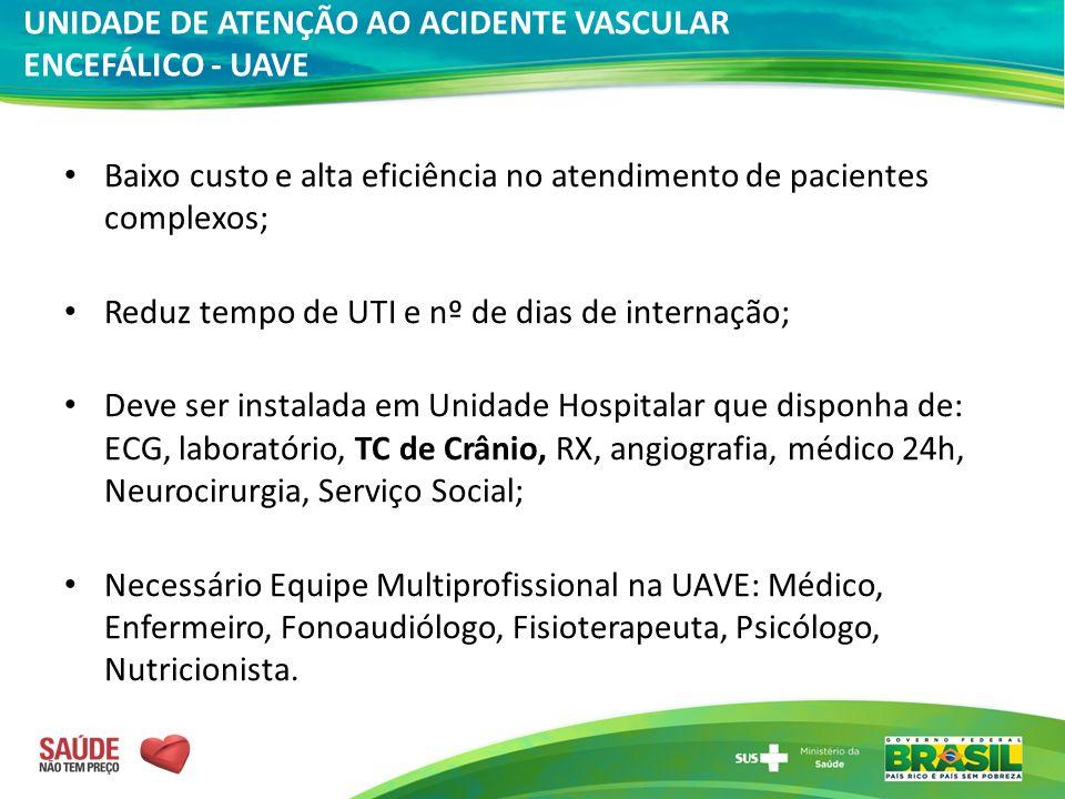 Baixo custo e alta eficiência no atendimento de pacientes complexos; Reduz tempo de UTI e nº de dias de internação; Deve ser instalada em Unidade Hosp