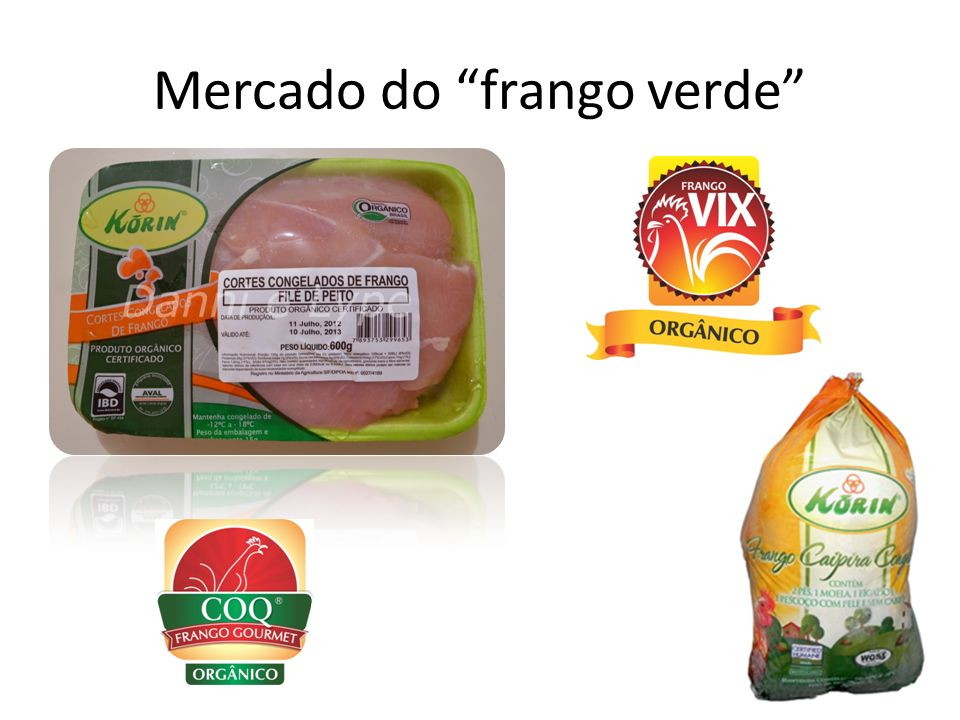Mercado do frango verde